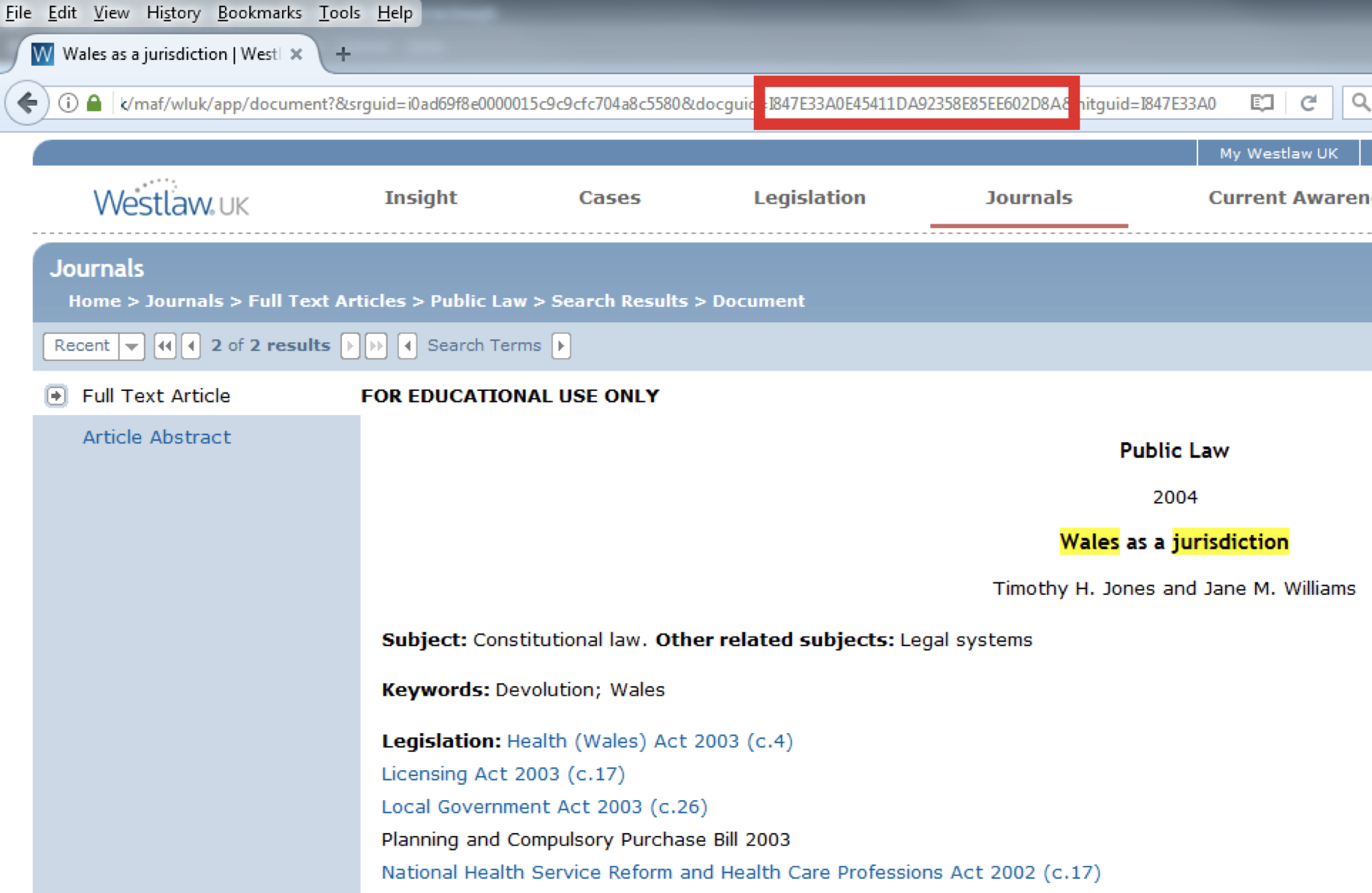 Westlaw and Factiva persistent link generators – Talis Support